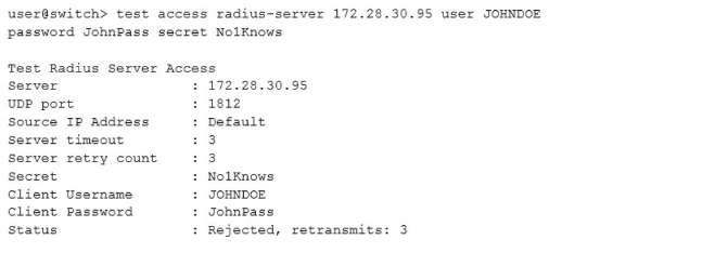 What happened to the RADIUS server 172 28 30 95? - VCEguide com